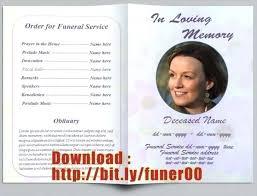 Free Memorial Program Template Funeral Word Pamphlet