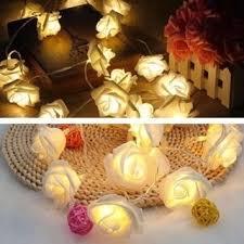 Shop 20 <b>LED Rose</b> Flower Fairy <b>LED String</b> Light for Garden Tree ...
