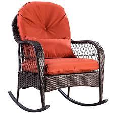tangkula outdoor wicker rocking chair