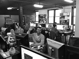advertising agency office. holler sydney australia the first agency to use pinterest as its website advertising office