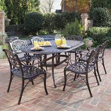 aluminum dining sets patio furniture. home styles biscayne 7-piece rust bronze aluminum patio dining set sets furniture o