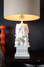 barbara cosgrove mini foo dog lamps dogs white set of two ship free foo dog lamps