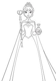 Frozen princesses anna and elsa coloring page. Elsa Coloring Pages Coloring Rocks