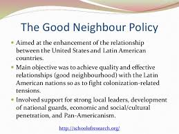 the doctrines behind us foreign policy  7 the good neighbour