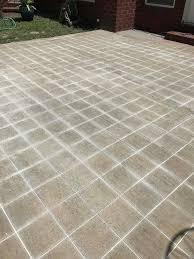 diy cement tile concrete patio