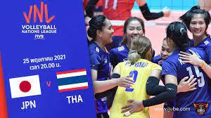 ถ่ายทอดสด วอลเลย์บอลหญิง เนชันส์ลีก 2021 ญี่ปุ่น vs ไทย HD พากย์ไทย