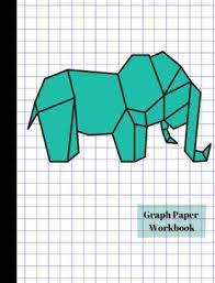 Origami Elephant 4x4 Quad Graph Paper Workbook By True North