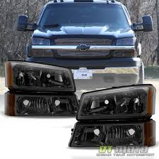 All Chevy chevy 2003 : Smoked 2003-2006 Chevy Silverado Headlights + Bumper Signal Lamps ...