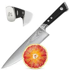 Amazoncom Japanese Damascus Steel Chef Knife By Nourish Ultra Damascus Steel Kitchen Knives