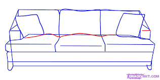 couch drawing. How To Draw A Couch Step 4 Drawing