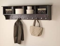 fabulous wall mounted coat rack with shelf 17 storage bathroom