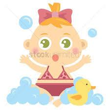 1309487 baby bath baby girl playing in bubble bath