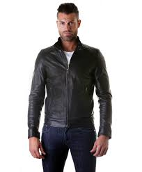 italian leather jacket handmade black 2