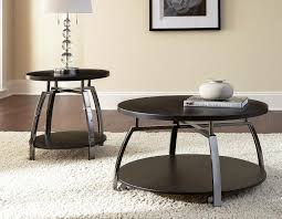 image of modern round end tables