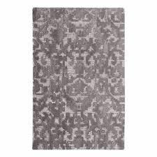 abstract modern damask gray wool area rug 8 x 10 scroll fl