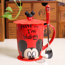 office cups. Lovely Mickey Cups Cartoon Mug Creative Milk Cup Office Mugs Coffee Water Minnie Cute Christmas Child Gift Drop Shipping-in From Home \u0026 Garden On N