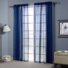 blue color sheer curtains doris cloth high thread blackout window curtains 2 panel set 2 5 inch rod pocket curtains for kitchen curtain liners from