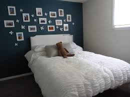 Bedroom:Dazzling Small Boys Bedroom With White Frame Photo On Dark Blue  Wall Paint Plus