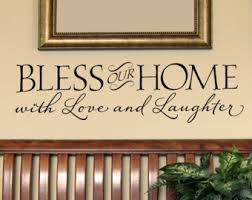 bless our home with love and laughter vinyl wall decal vinyl lettering wall decal sticker art design on bless our home wall art with bless our home with love and laughter wall decal home wall