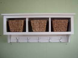 wall shelf with hooks style