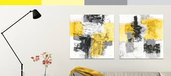 gray and yellow canvas prints