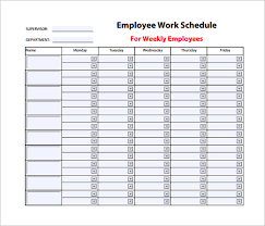 scheduling templates for employee scheduling weekly work schedule template 14 free word excel pdf format