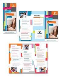 Tri Fold Samples College University Tri Fold Brochure Template School