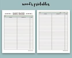Grade Tracking Pdf Printable Binder Printables Grade Book