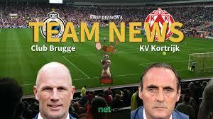 First Division A News: Club Brugge vs KV Kortrijk Confirmed Line-ups