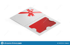 Gift Card Template In Envelope On White Background For Your