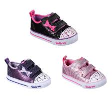Skechers Toddler Light Up Shoes Australia Details About Skechers Twinkle Toes Itsy Bitsy Shoes Infant Girls Trainers Footwear