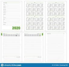 Datebook Diary Daily Planner Calendar 2020 Year Stock