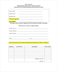Purchase Order Forms Sample Purchase Order Form 15 Free Word Pdf Documents Download Free