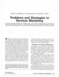 Services Marketing Pdf Problems And Strategies In Service Marketing Journal Of