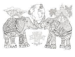 printable world elephant day elephants coloring pages for s free coloring book