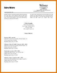 Salary Requirements On A Resumes 9 10 Resume With Salary History Sample Juliasrestaurantnj Com
