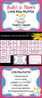Little Miss Chart Build A Poem Little Miss Muffet Pocket Chart Center