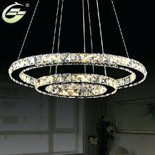 chandeliers aliexpresscom hot modern two circles led crystal chandelier light pendant with dia400200xh650mm