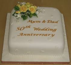 Golden Wedding Anniversary Cake Anniversary Cakes Shop By