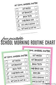 Adhd Morning Routine Chart Free Printable School Morning Visual Routine Chart For Kids