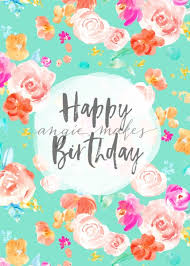 Happy Birthday Card Download With Watercolor Flowers This Birthday