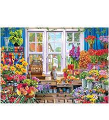 500 Parça Çiçekçi Dükkanı Yapboz- Çiçeksepeti