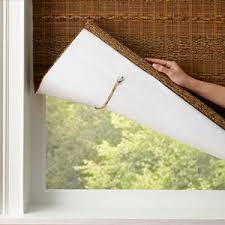 bamboo window blinds. Cloth Tape Bamboo Window Blinds
