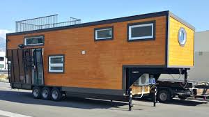 gooseneck tiny house. Country Barn Gooseneck Tiny House W/ Rooftop Deck Accessible Via The Loft   Small Home Design Ideas C