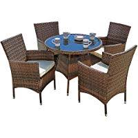 outdoor dining table and chairs. Suncrown Outdoor Dining Table And Chairs (5-Piece Set) With Umbrella Outdoor Dining Table Chairs