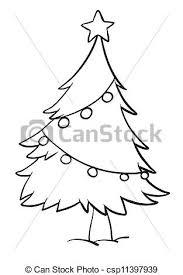 Christmas Tree Black And White Outline  Ne WallChristmas Tree Outline Clip Art