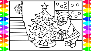Coloring Page Tremendous Santa Coloring Pages