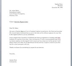 Interview Request Letter Smart Letters
