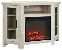 corner tv stand fireplace corner fireplace media stand console white oak