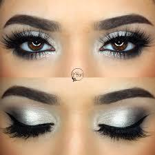 subtle glitter for nye silver grey y eye makeupbymeggan black winged liner pop of glitter on lower lashline new years eve prom makeup in